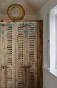would love to use old shutters to make closet doors
