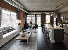 Apartments for rent in brooklyn under 1000 loft apartment design layout tiny house designs the most Apartment Goals, Dream Apartment, Apartment Kitchen, Apartment Design, Apartment Living, Apartment Layout, Apartment Ideas, Industrial Loft Apartment, Exposed Brick Apartment