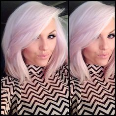 Bob Haircuts in Pink Shades! Love this cut