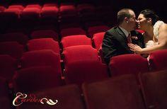 bridal portrait in NJ.  Theatre wedding  Carden's Photography