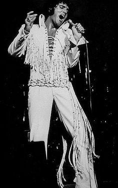 Elvis Presley performing at the International Hotel in Las Vegas, 8/11/70.