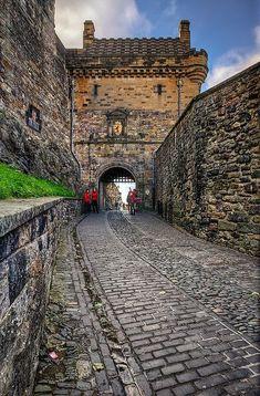 Medieval Castle, Edinburgh, Scotland photo via theresa