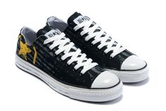 2012 Converse Black New Seal Letter Yellow Logo Low Top Canvas . Converse Logo, Browning Logo, Converse Chuck Taylor All Star, Seal, Flip Flops, Kicks, Letter, Yellow, Canvas