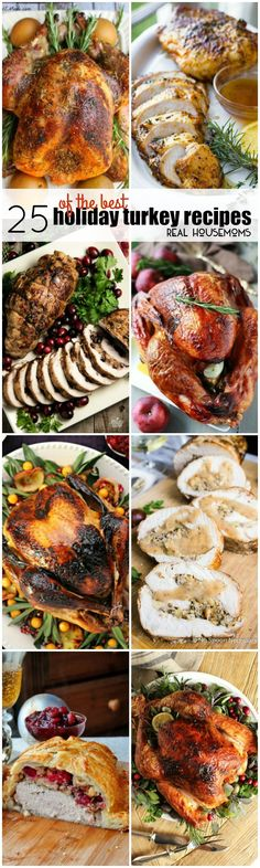 Make your holiday dinner extra special with 25 of the Best Holiday Turkey Recipes! These birds are loaded with flavor and are sure to be the star of you meal! Shared by Where YoUth Rise Turkey Dishes, Turkey Recipes, Fall Recipes, Holiday Recipes, Holiday Meals, Christmas Desserts, Thanksgiving Dinner Recipes, Holiday Dinner, Thanksgiving Sides