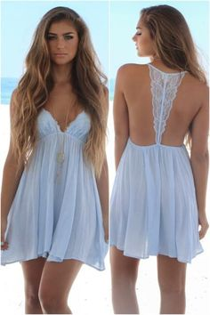 Dainty light blue intimate dress. Rosemary Beach Nights features a lace bust…