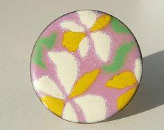 floral copper enamel on Etsy, a global handmade and vintage marketplace.