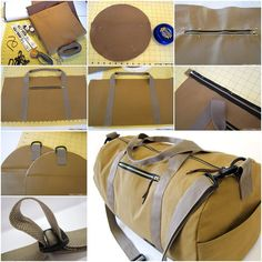 How to Make Safari Duffle Bag in Canvas & Faux Leather | www.FabArtDIY.com LIKE Us on Facebook ==> https://www.facebook.com/FabArtDIY
