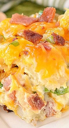 Twice Baked Potato Casserole  www.tablescapesbydesign.com https://www.facebook.com/pages/Tablescapes-By-Design/129811416695