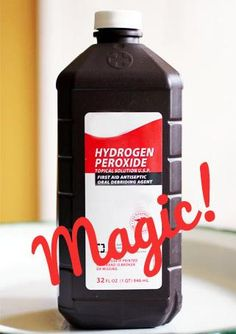 these are great tips.... 29 Magical Usehs For Hydrogen Peroxide