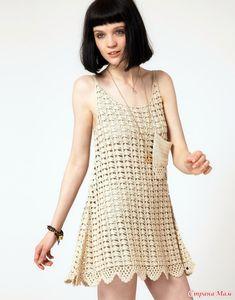 *Эксклюзив. Вязаное крючком платье One Teaspoon.