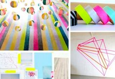 Be really artsy with it. | 56 Adorable Ways To Decorate With Washi Tape