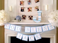 Baptism Decorations  Hand Painted Wood Letter by TwoChihuahuas, $18.00