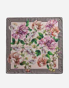 Dolce & Gabbana, Scarf Design, Floral Scarf, Botanical Illustration, Womens Scarves, Print Patterns, Floral Prints, Colorful Scarves, Art Ideas