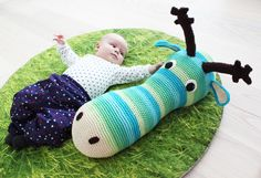 A #crochet animal baby buddy; free pattern    fill with rice, warm in microwave, lay next to baby to help sleep