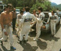 Markku Alen - Ilkka Kivimaki, Walter Röhrl - Christian Geistdorfer, Maurizio Perissinot - Attilio Bettega Lancia Martini Racing Tour de Corse 1983