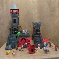 Playmobil Knights Dragon Castle Lot ghost skeleton vintage figures walls vintage #PLAYMOBIL