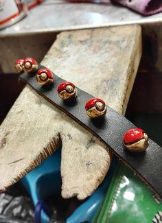 Pokemon leather bracelet by JuliaDC