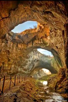Lu Amorim - Google+The cave - Photography by +Evgeni Ivanov evgeniivanov.com Magnificent view of the Devetaki cave, Bulgaria #cave #bulgaria