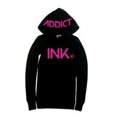 Thermal Hoodie Black/Pink