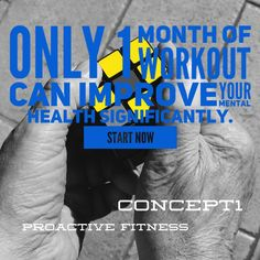 Only one month #workout can improve your mental health