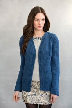 Free pattern - Georgia Raglan Jacket Tahki Stacy Charles, Inc., Supplying Knitters with Fabulous Fibers and Yarn