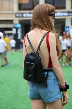 Accesorio Leather Backpack, Backpacks, Bags, Fashion, Handbags, Moda, Leather Backpacks, Fashion Styles, Backpack