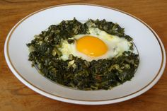 DUKAN - Αυγά με σπανάκι - BeU.com.cy Eggs, Breakfast, Ethnic Recipes, Food, Morning Coffee, Eten, Egg, Meals, Morning Breakfast