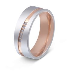 Freundschaftsringe rosegold  Zwei Hochzeitsringe, Verlobungsringe, Partnerringe, Ehering mit ...