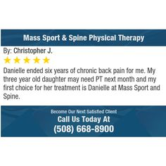 Danielle ended six years of chronic back pain for me. My three year old daughter may need...