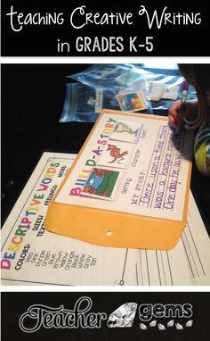 Tips for teaching creative writing in grades K-5. #TeacherGems