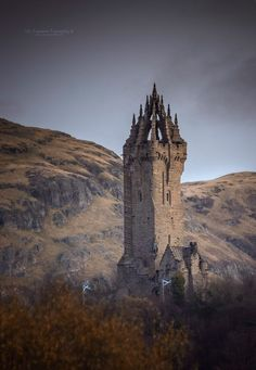 Wallace Monument, near Stirling, Scotland.