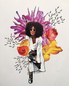 solange knowles flower collage by katy edling - No. 35/100