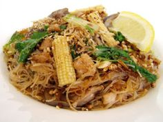 Pad See Eeaw Guy - I'm going to try this recipe when I get a craving for some Asian-type noodles.
