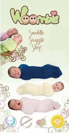 This is a great product for anyone with newborns. - Woombie - Swaddle, Snuggle and Sleep.