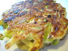 Goat cheese stuffed pancakes. I think I might use the yellow summer squash from my garden to make these.