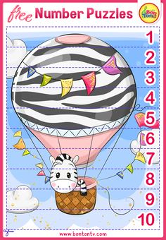 FREE Number Puzzles - Preschool Printables for Kids - Learning Numbers, Counting - Fun Math Activities and Worksheets for Homeschooling by BonTon TV - Besplatne Puzzle za zabavno učenje brojeva od 1 do 10 - Matematika, Brojanje do 10 Homeschool Worksheets, Kindergarten Worksheets, Printable Worksheets, Homeschooling, Free Preschool, Preschool Printables, Free Math, Free Puzzles For Kids, Math For Kids