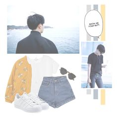 """Jung Hoseok"" by lazy-alien ❤ liked on Polyvore featuring Monki, adidas Originals, Christian Dior, bts, Jhope and JungHoseok"