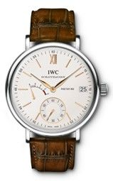 IWC Portofino Hand Wound Eight Days Silver Dial Mens Watch at price: Stainless-steel case with a santoni brown (alligator) leather-based strap. Iwc Watches, Cool Watches, Watches For Men, Analog Watches, Black Watches, Leather Watches, Pocket Watches, Wrist Watches, Iwc Replica