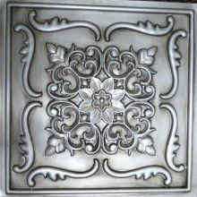 DCT_26 Faux Tin Ceiling Tile Drop in 24x24 - Antique Silver  backsplash or behind shelves or an open cabinet?