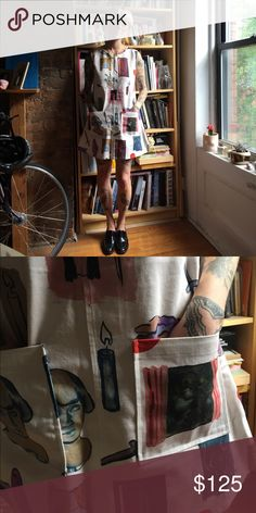 Samantha Pleet dress Adorable dress with print by artist Jenna Gribbon Samantha Pleet Dresses Midi