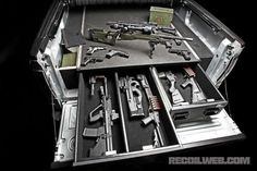 Now that's a bed liner! Concealed Tactical gear.
