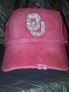 Oklahoma Sooners Rhinestone Hat! Christmas/birthday present...anyone? I NEED ONE