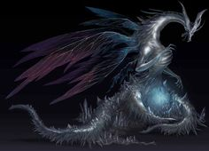 Seath the Scaleless turned against his brethren out of envy, because he lacked the stone scales that granted them immortality. He began researching the scales, but went mad, and now is true undead. He is a sorcerer, and through magical means, Moonlight Butterflies are his creations.