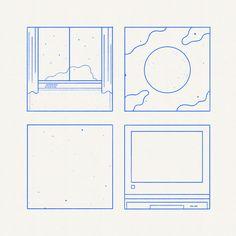 "lacoste: "" Today is about Blue Drawings. Illustration Design Graphique, Art Et Illustration, Blue Drawings, Art Drawings, Art Design, Icon Design, Grafik Design, Graphic Design Inspiration, Illustrations Posters"
