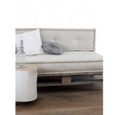 Leuke set matraskussens met een zitkussen en een rugkussen! Voor in de tuin of in je zithoek! Maak je eigen loungeplek.