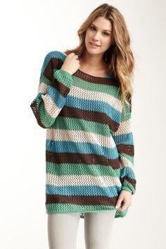 Love Stitch  Long Sleeve Knit Oversized Sweater