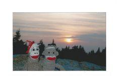 Sunset on Cadillac Mountain by sockmonkeycards on Etsy, $3.50