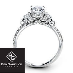 Simon G. 18Kt White Gold Engagement Ring With 0.39 Twt Diamonds http://www.bengarelick.com/collections/simon-g/products/simon-g-18kt-white-gold-engagement-ring-with-0-39-twt-diamonds