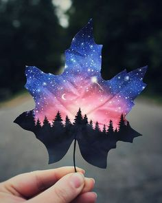 Painting Galaxy Art 52 Ideas For 2019 Galaxy Painting, Galaxy Art, How To Paint Galaxy, Space Painting, Painted Leaves, Painting On Leaves, Gouache Painting, Leaf Art, Cool Drawings