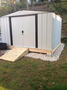 One idea I got from Pinterest how to build foundation for shed this is mine.
